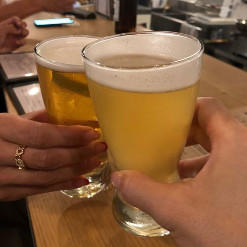 First Eyeem Photo Food And Drink Alcohol Human Body Part Hand Refreshment Drink Human Hand Craftbeer Cheers 乾杯 クラフトビール ビール お酒 Bar Counter Beer Bar