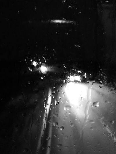 Black and White rain Black & White Raindrops Water Night
