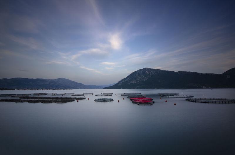 Sea-farms Colors Blue Cloud - Sky Landscape Long Exposure Mountain Sea Seascape Sky