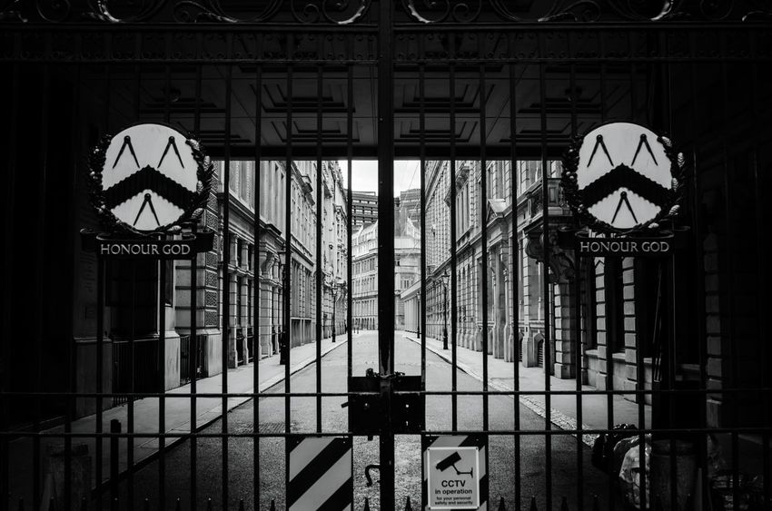Honour God The Photojournalist - 2016 EyeEm Awards The Architect - 2016 EyeEm Awards Street Photography Streetphoto_bw Visual Statements Visual Stories Storytelling London Deserted Streets Gate Closed Gate Alucyart
