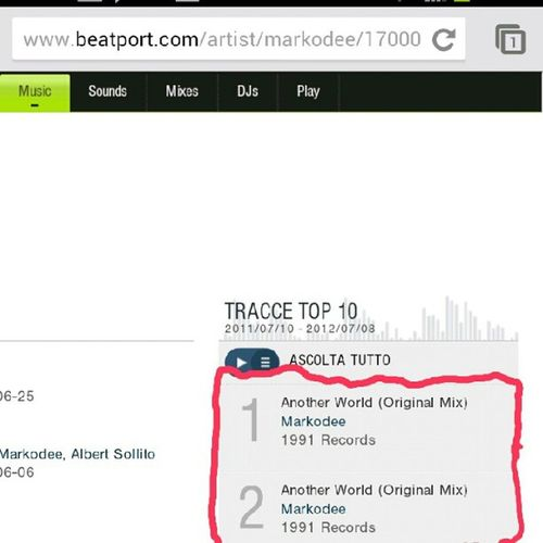 Another world n.1 e n.2 on Top10 Markodee