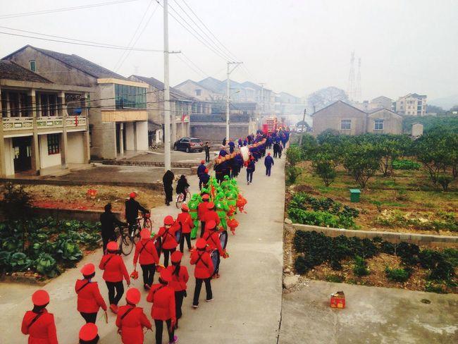 中国温州七都吟州正月初九舞龙灯