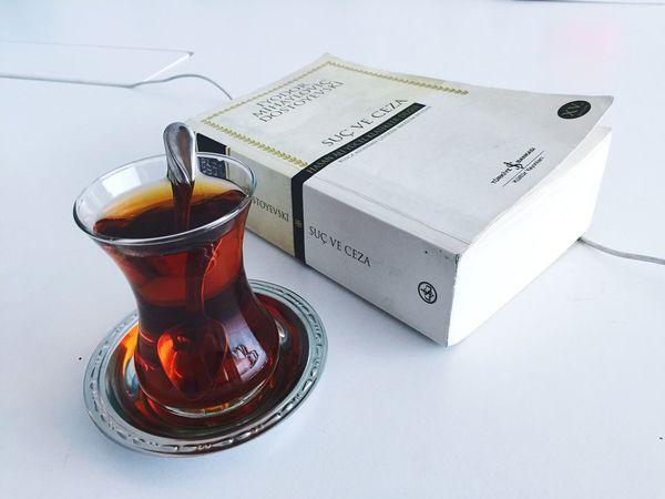 Reading A Book Books Readings Tea Dostoyevski Good Times Probation Office Şuç ve Ceza & Crime and Punishment
