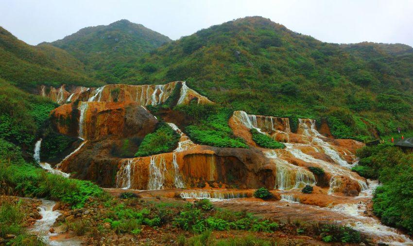 Golden Waterfall in Taiwan. Golden Waterfall Xinbei Taiwan Nature Nature Photography
