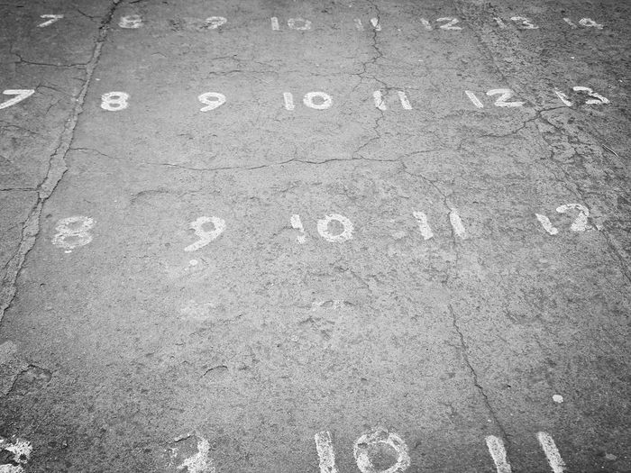 Numbers In Context Numbers Numbers In A Row Numbers On Ground Streetphotography Street Field Of Numbers Black And White Photography Black And White Texture Black And White Ground