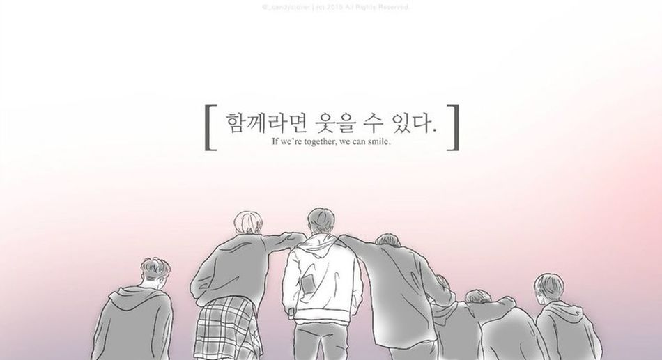 If we're together, we can smile~ Hello World BTS Smile C: Relaxing Art A.r.m.y