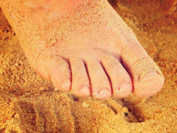 Foot Beach Sand Sandy Feet Golden Beach