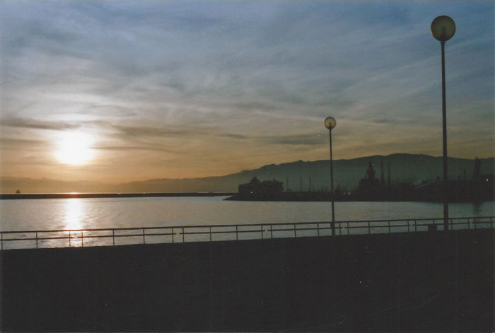 Nature Sea Reflection Water Beauty In Nature Tranquility Sunset Scenics No People Sky Tranquil Scene Outdoors Clouds Day Mountain Lamp Lamp Post Film Expired Expired Film Horizon Welcome To Black Sun Harbor Genova BYOPaper! The Great Outdoors - 2017 EyeEm Awards