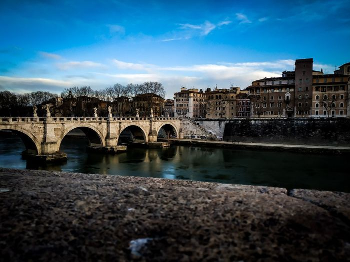 Italy🇮🇹 Roma View Watercolor Traveldestination Photograph Photographers Phototravel Traveling Travelmoments Cityscape City Water Bridge - Man Made Structure River Old Ruin Arch Reflection History Old Town Arch Bridge Suspension Bridge My Best Photo