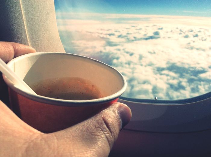 From An Airplane Window Coffee Time