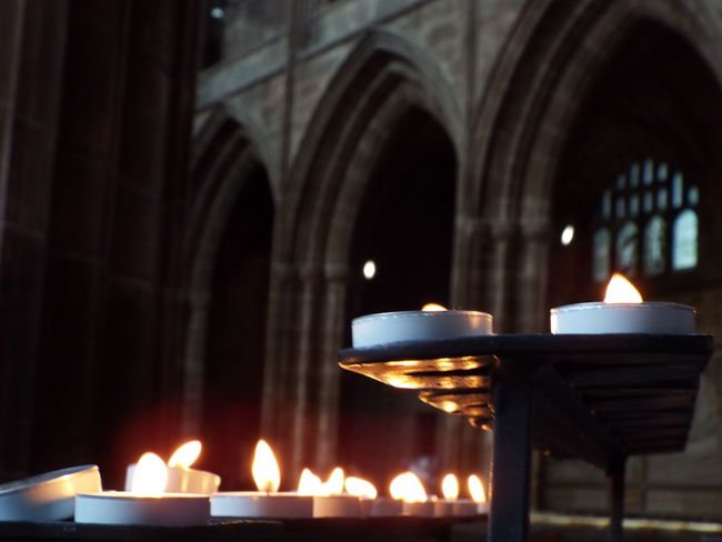 Candles Candles Burning Stained Glass Window Stained Glass Church Windows Cathedral Window Arch Cathedral Architecture Cathedral Decor Arches Light And Dark Flame Flickering Flame