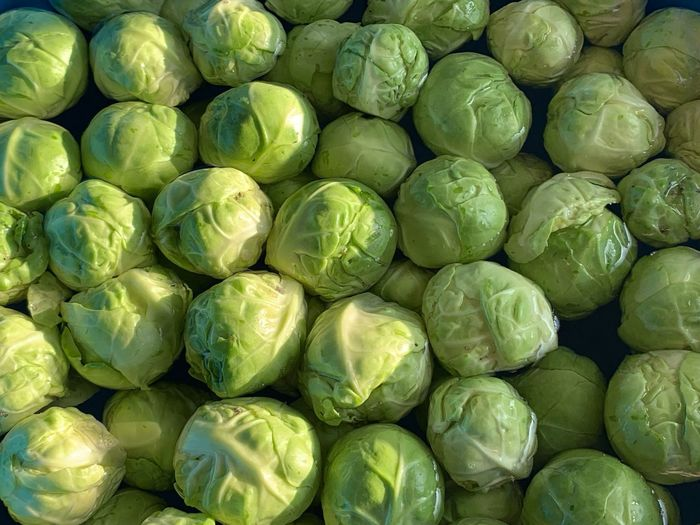 Full Frame Food Backgrounds Healthy Eating Large Group Of Objects Food And Drink Wellbeing Freshness Green Color Abundance No People Still Life Brussels Sprout Directly Above Indoors  Vegetable Close-up Fruit High Angle View Repetition