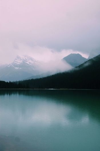 Driving along the Icefields Parkway, Canada. Icefieldsparkway Canada Canada Coast To Coast Chilly Cold Nature Lake Reflection Calm Alone Trees Travel Explore