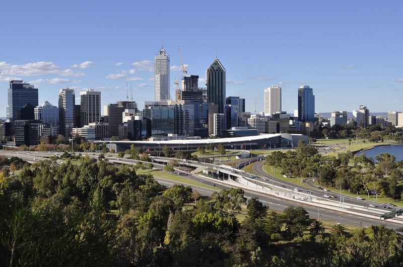 Australia Perth Building City Cityscape Road Urban Skyline