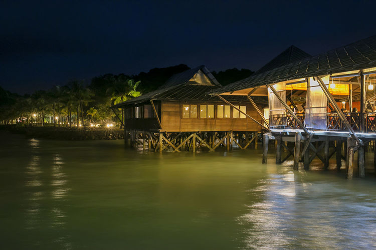 restaurant in the sea~ Architecture Bintan  Building Exterior Dining Kelong Reflection Sea Seafood Travel Tropical Waterfront