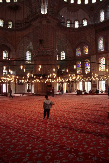Architecture Boy Child Indoors  Istanbul Mosque Mosque