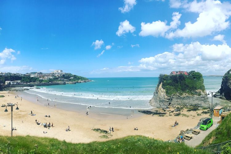 Newquay Newquay Cornwall Cornwall Beach Sea Water Beach Land Sky Cloud - Sky Beauty In Nature Scenics - Nature Holiday Day Horizon Over Water Sand