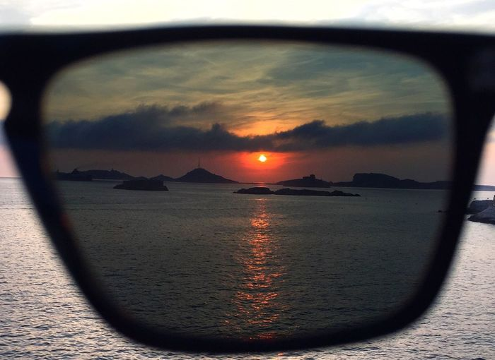 EyeEm Selects Sunset Cloud - Sky Reflection Sky Scenics Nature Sea Sunglasses Beauty In Nature Eyewear