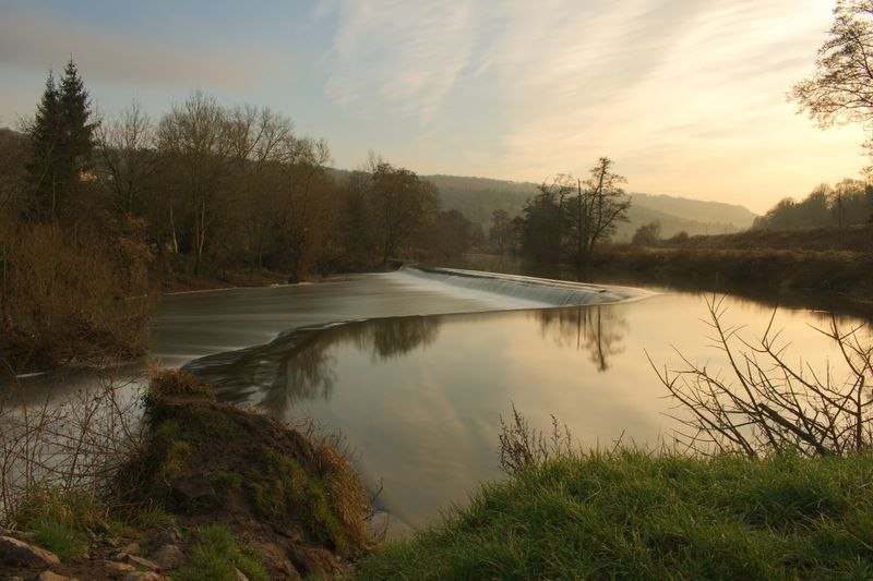 Claverton Warleigh Weir Somerset Weir Long Exposure Shot Long Exposure Tree Nature Water Tranquil Scene Beauty In Nature Scenics Tranquility No People Grass Idyllic Outdoors Reflection Day Lake Sky