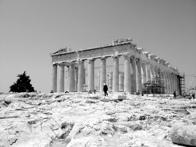QVHoughPhoto Athens Greece Acropolis Blackandwhite Traveling Travel IPhoneography IPhone4s
