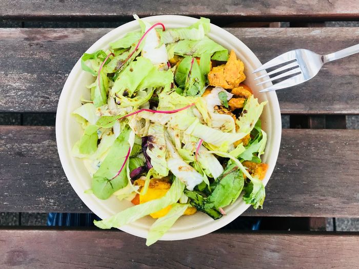 Healthy eating Green Salad Foodphotography Delicious Food Food And Drink Freshness Healthy Eating Kitchen Utensil Vegetable Wellbeing Ready-to-eat Salad Fork Plate Close-up Serving Size