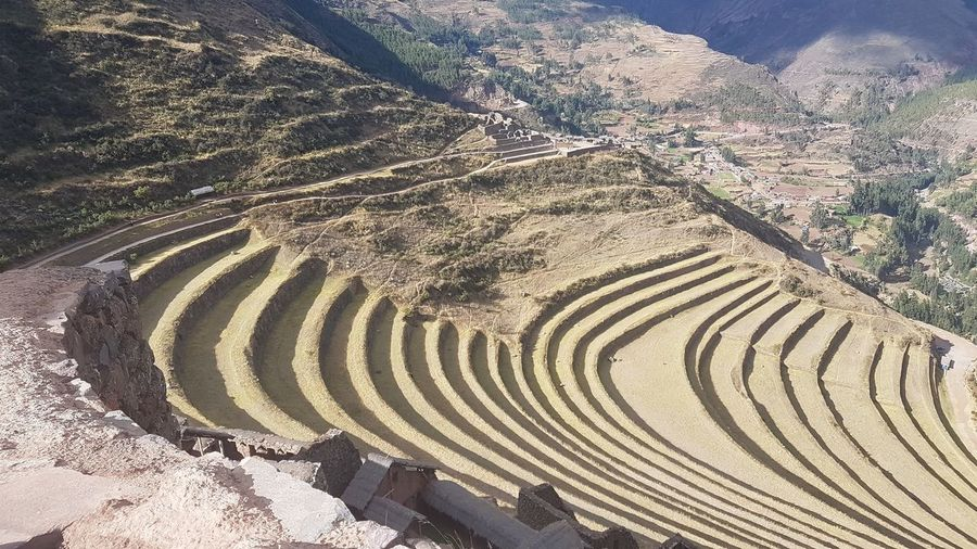 Pattern High Angle View Day Sunlight No People Nature Land The Past Architecture Outdoors Sand Ancient Tranquility Ancient Civilization Tranquil Scene Built Structure History Travel Tourism Plant