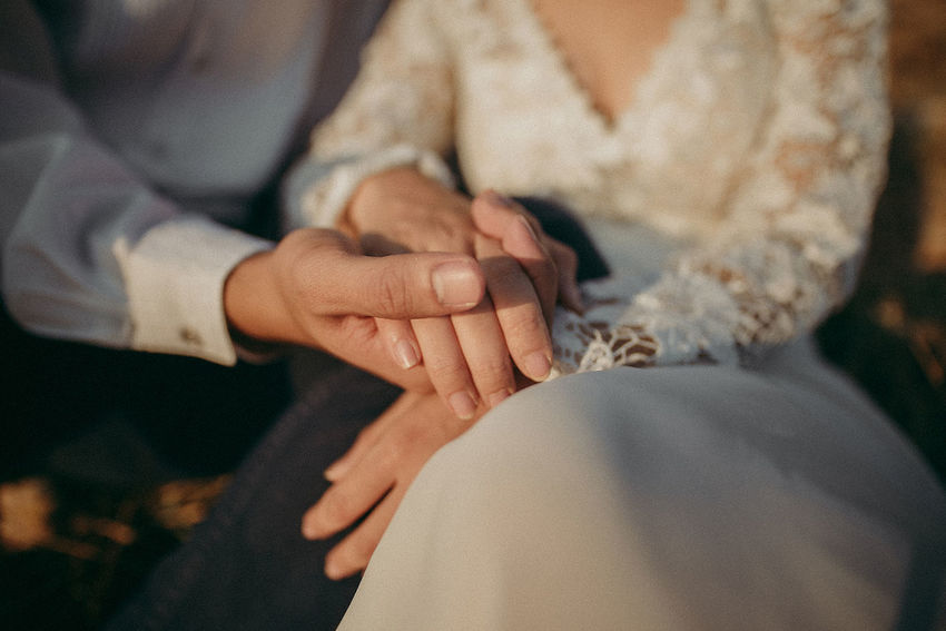 Adult Bonding Celebration Close-up Couple - Relationship Finger Focus On Foreground Hand Human Body Part Human Hand Life Events Lifestyles Love Men Midsection People Positive Emotion Real People Selective Focus Togetherness Two People Wedding Ceremony Women