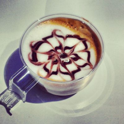 Lovely coffee art on the Nokia stand. #CoffeeTweet #MWC13 Coffeetweet Mwc13