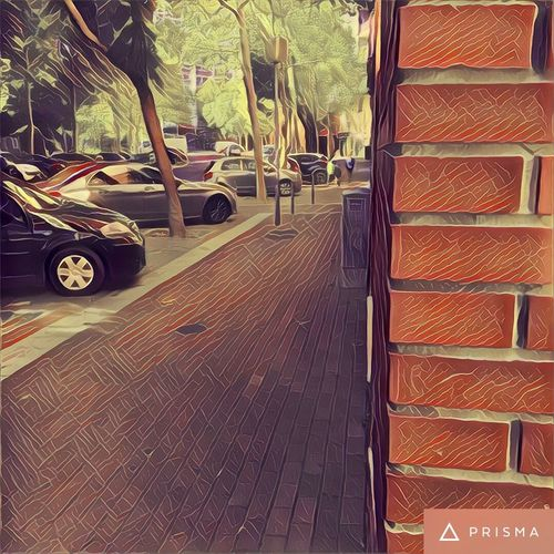 Street hide view Transportation Car Land Vehicle Mode Of Transport Road Architecture The Way Forward Day Stationary Outdoors No People Prisma App