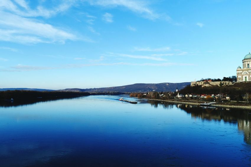 Water Sky Blue Landscape Outdoors Beauty In Nature Nature Day Just The Nature Esztergomi Bazilika Dunakanyar Fresh Air And Sunshine Danube River Danube Photographer With My Parents