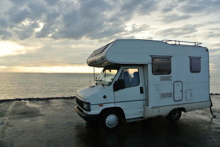 Campervan After Rain Camper Campervan Cloud - Sky Horizon Land Vehicle Mini Road Trip Outdoors Roadlife Sea Sky Transportation