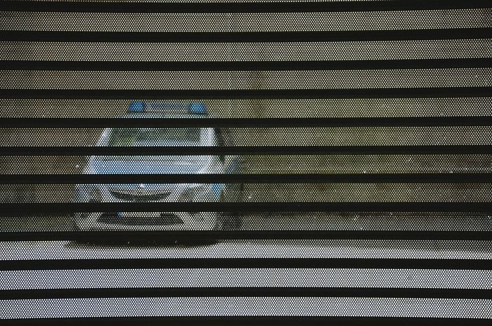Behind The Grid Hinter Gitter Polizei Police Car Polizeiauto Streetphotography Berlincity Berliner Ansichten Grid Car Auto Metal Grid Mittendrin Street Photography The Street Photographer - 2017 EyeEm Awards Single Object