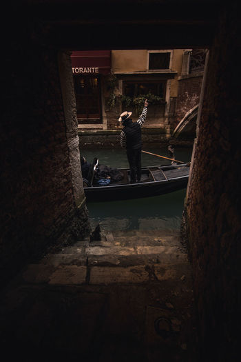 Venice EyeEm Best Shots EyeEm Selects Mystery Atmosphere EyeEmNewHere Italy Venice, Italy Gondola Gondilier Travel Destinations Travel Canal Manual Worker Working Occupation Men