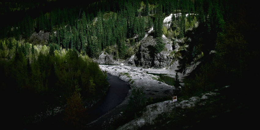 Beauty In Nature Dam Danger Sign Forest Green Hiking Landscape Mountain Addict Mountains Nature No People Outdoors River Tranquility Tree Water