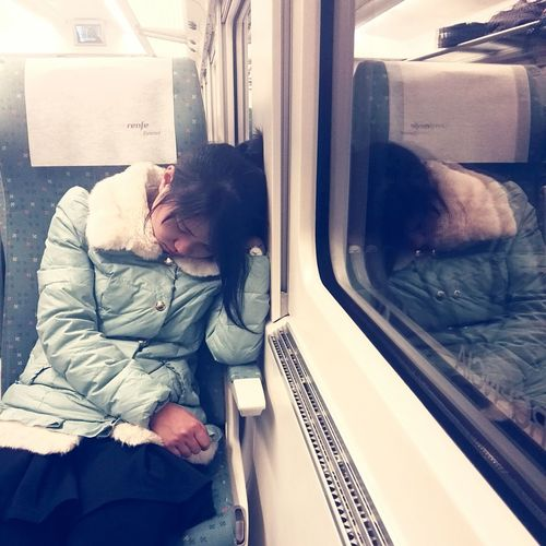 Travel 睡觉了 Beautiful Train - Vehicle Traveling Home For The Holidays