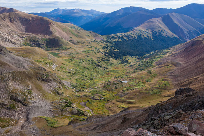 Alpine Colorado Colorado Photography Mountain Valley Altitude Beauty In Nature Geology Landscape Mountain Mountain Range Mountains Nature No People Outdoors Scenics Sky Tranquil Scene Tranquility Valley