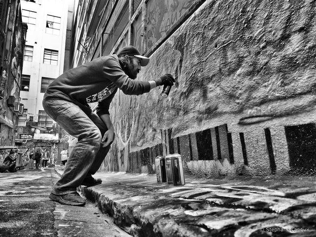 Melbourne, May 2016 Art Black & White Black And White Blackandwhite Character Contrast Graffiti Melbourne Melbourne City Melbourne Graffiti Street Art Street Art/Graffiti Streetphotography