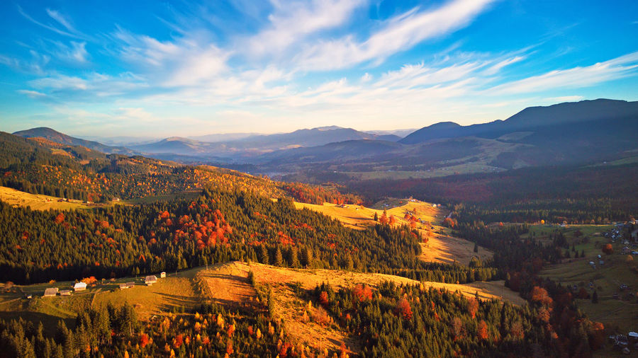 Sky Beauty In Nature Scenics - Nature Mountain Tranquil Scene Environment Landscape Tranquility Cloud - Sky Nature Idyllic Plant Non-urban Scene Mountain Range No People Tree Day Land Outdoors Growth Ukraine Carpathians Village Hills Valley
