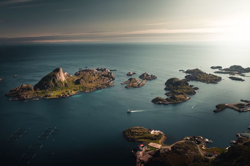 A perfect island to live on? Landscape EyeEm Best Shots - Landscape EyeEm Nature Lover Sunset Fujifilm Vestvagoy Lofoten Islands Lofoten Norway Boat Water Sea Scenics - Nature Beauty In Nature Sky Horizon Over Water Land Rock Horizon Outdoors Island Nature High Angle View