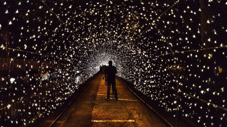 Illuminated The Way Forward Built Structure Night Iran Travel Middle East Isfahan Esfahan Tunnel