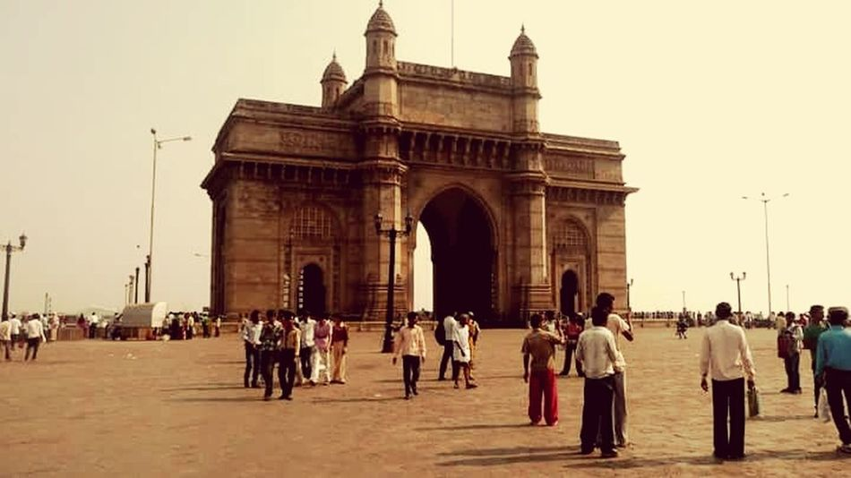 Travel Destinations Tourist History Tourism Vacations City Architecture Cultures City Life Built Structure People Outdoors Triumphal Arch Mumbai India Gatewayofindia