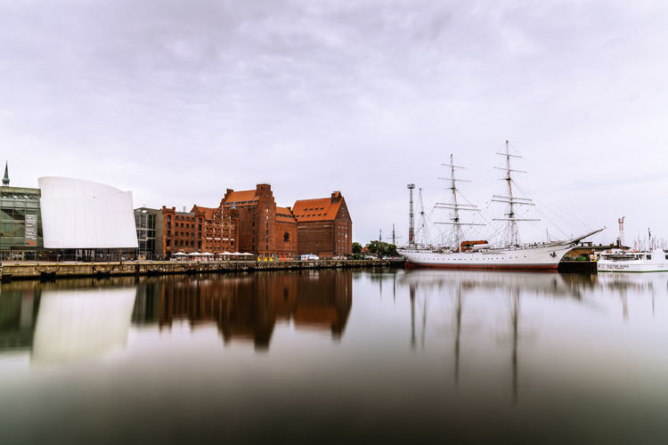 Stralsund, germany. scenic view of the harbour