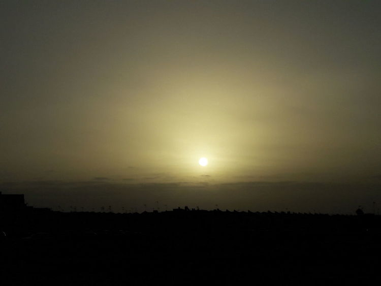 Sunrise Sky Sun Silhouette Nature Beauty In Nature Tranquility Landscape Tranquil Scene Outdoors Scenics No People Sunset Moon Astronomy Space