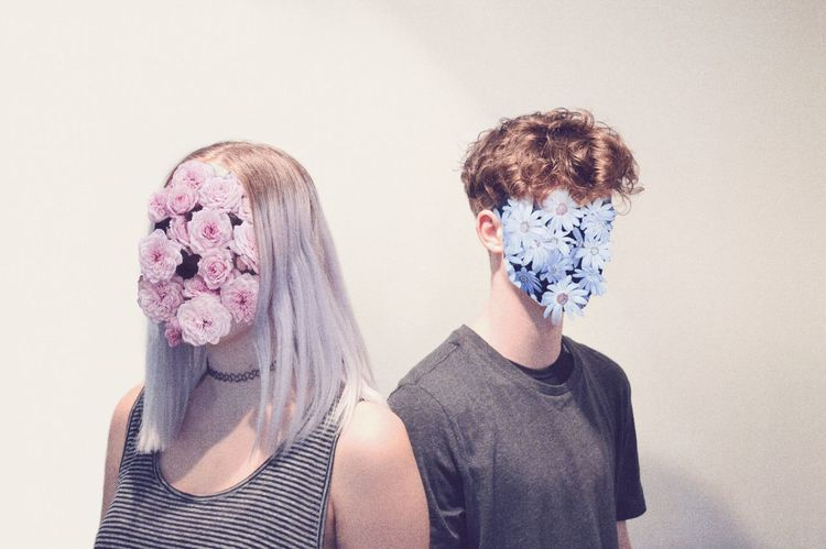 Millennial Pink Portrait Human Body Part Togetherness People Flower Head Pink Flowers Weird Photoshop Couplegoals Couple Lost Without You Fresh On Eyeem  Cut And Paste Mix Yourself A Good Time