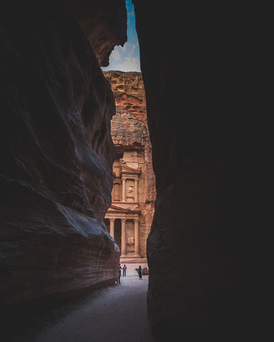 Architecture Travel Destinations Ancient Civilization Arch Travel Rock Ancient History Tourism Petra Jordan Jordanie Treasury Middle East Oriental Building Canyon Historic Old Antic City Travel Crazy Place Lifestyles Entry