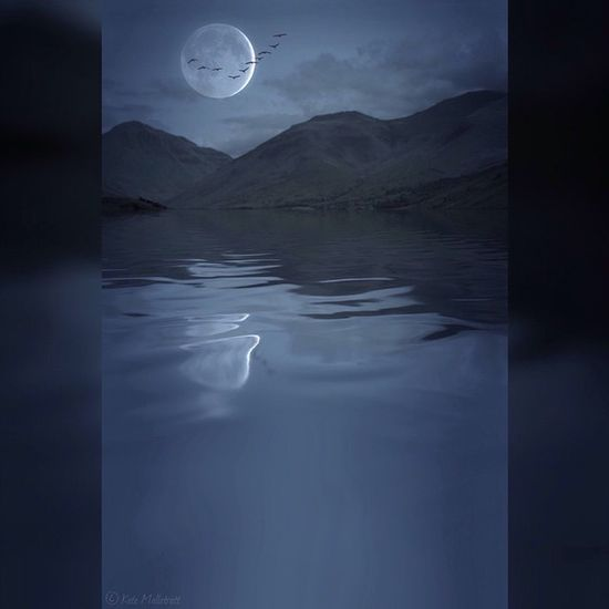 Reflect Reflectapp BrainFeverMedia Water Reflection Lake Lakedistrict Moon Night Eerie Squarereadypro Mountains K8marieuk