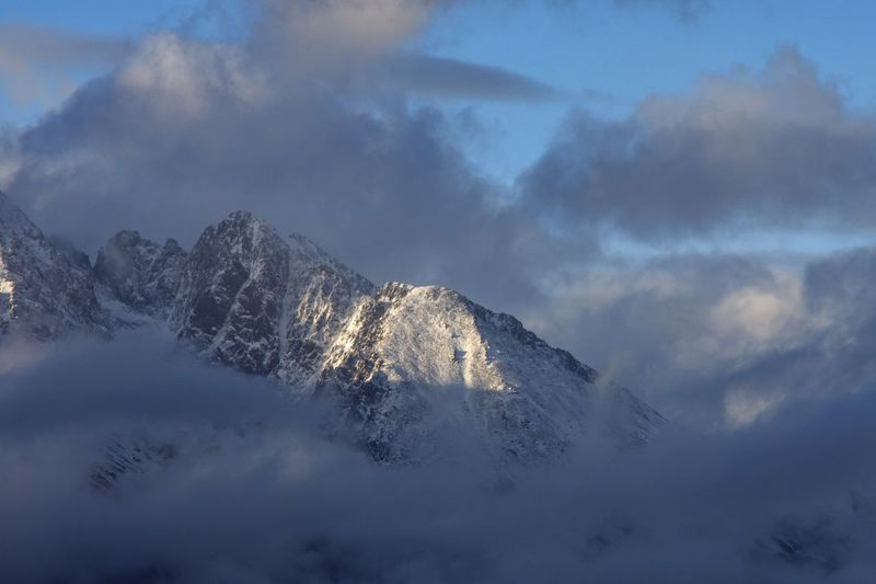 Tatry Slovakia Mountains And Clouds Mountains And Sky Snow Winter Cold Temperature Mountain Sky Scenics - Nature Cloud - Sky Beauty In Nature Nature No People Tranquility Landscape Mountain Range Snowcapped Mountain Tranquil Scene