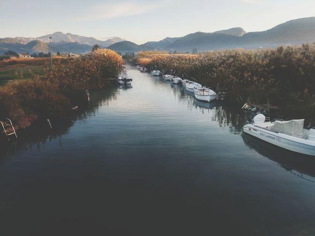 Port andratx Lake Water Landscape Reflection Outdoors Mountain Beauty In Nature Boat Boats⛵️ Andratx Port And Yachts SPAIN Mallorca Mallorcaphotographer Mallorca Island Perspectives On Nature