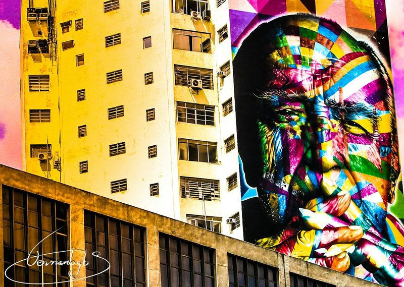 Grafite Oscar Niemeyer Av Paulista Arquitecture Colorful Streetart Streetphotography Building