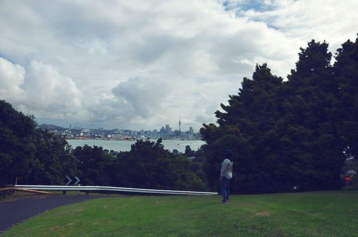 Mount Victoria Mountvictoria View From Above Skytower, Auckland. NZ. Sky And Clouds SkyTower Auckland City Hijabstyle  Devonport Harbourside North Girl